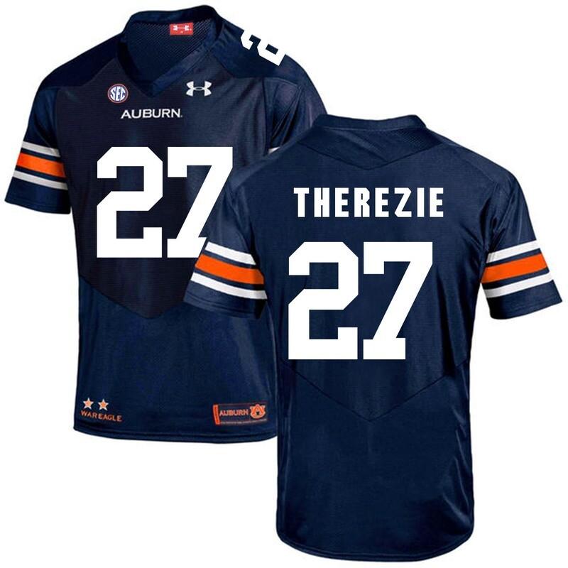 Auburn Tigers Under Armour #27 Robenson Therezie Football Jersey Dark Blue