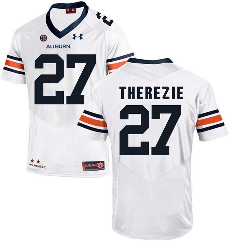 Auburn Tigers Under Armour #27 Robenson Therezie Football Jersey White