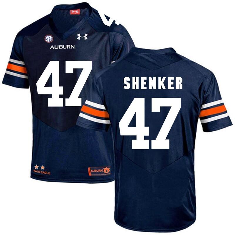 Auburn Tigers Under Armour #47 SHENKER Football Jersey Dark Blue