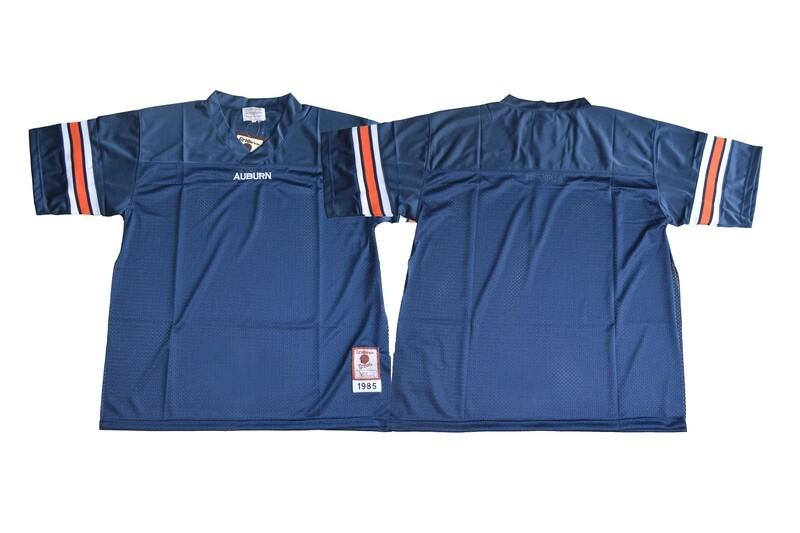 Auburn Tigers Blank Edition Retro College Football Jersey Retro Blue
