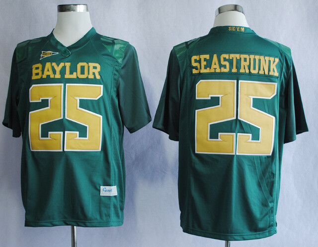 Baylor Bears #25 Lache Seastrunk College Football Jersey Green Yellow
