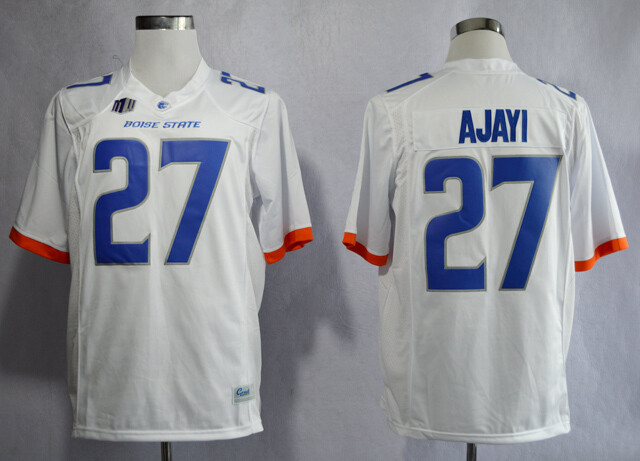 Boise State Broncos #27 Jay Ajayi College Football Jersey White Blue