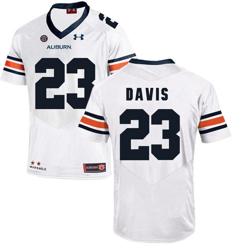 Auburn Tigers Under Armour #23 Ryan Davis Football Jersey White