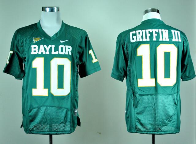 Baylor Bears #10 Robert Giffin III NCAA College Football Jersey Green