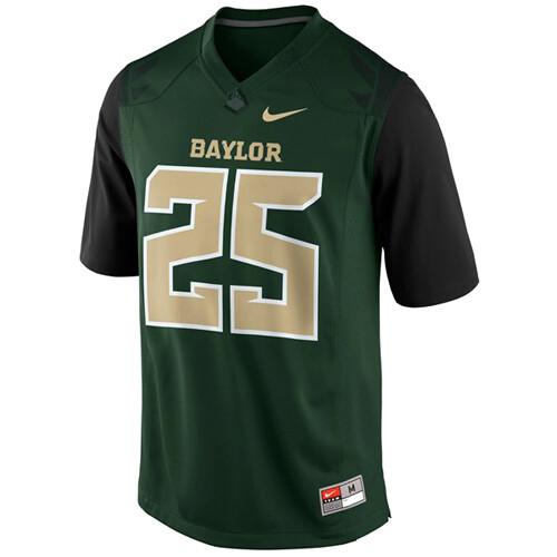 Baylor Bears #25 Lache Seastrunk NCAA College Football Jersey Green