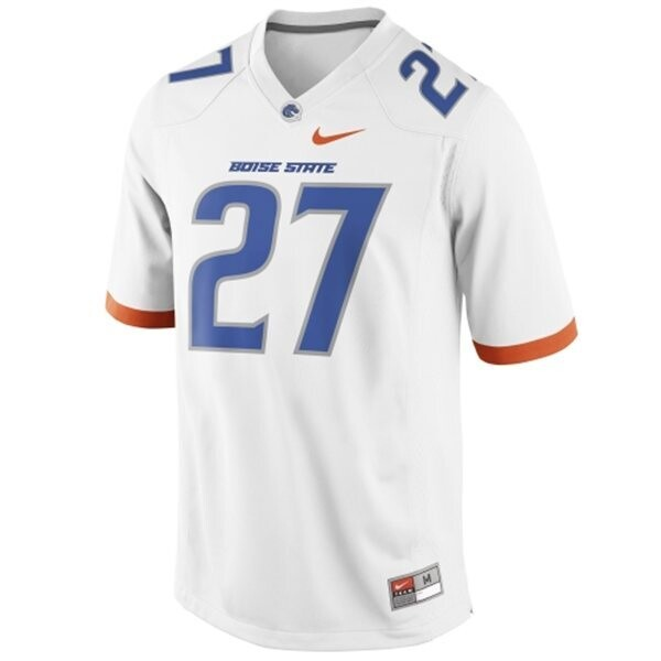 Boise State Broncos #27 Jay Ajayi College Football Jersey White