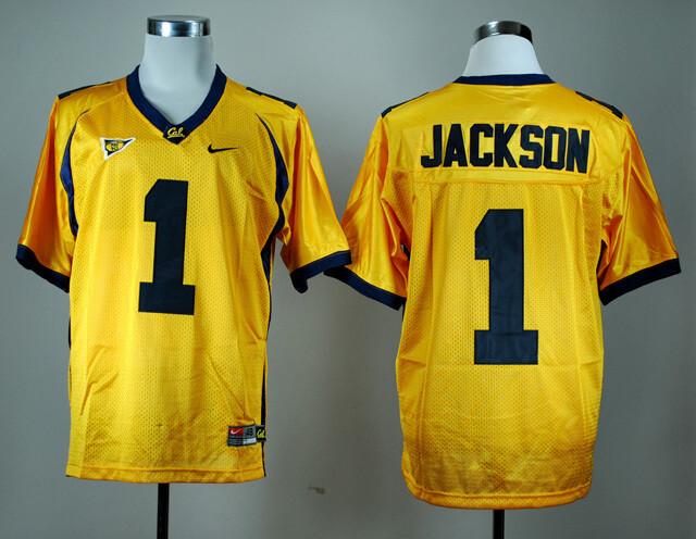 California Golden Bears #1 DeSean Jackson NCAA Football Jersey Yellow