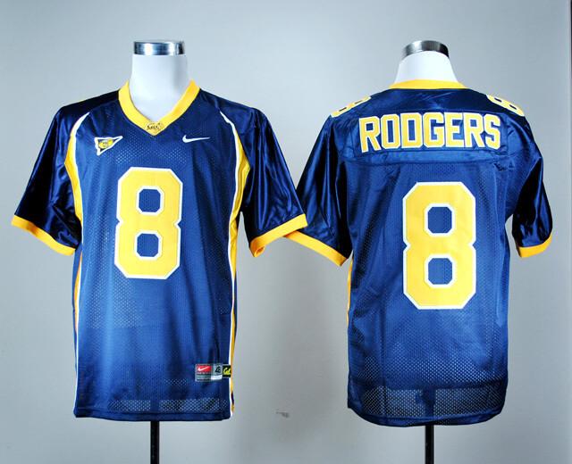 California Golden Bears #8 Aaron Rodgers NCAA Football Jersey Blue
