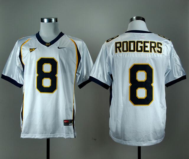 California Golden Bears #8 Aaron Rodgers NCAA Football Jersey White