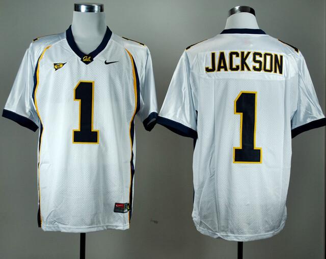 California Golden Bears #1 DeSean Jackson NCAA Football Jersey White