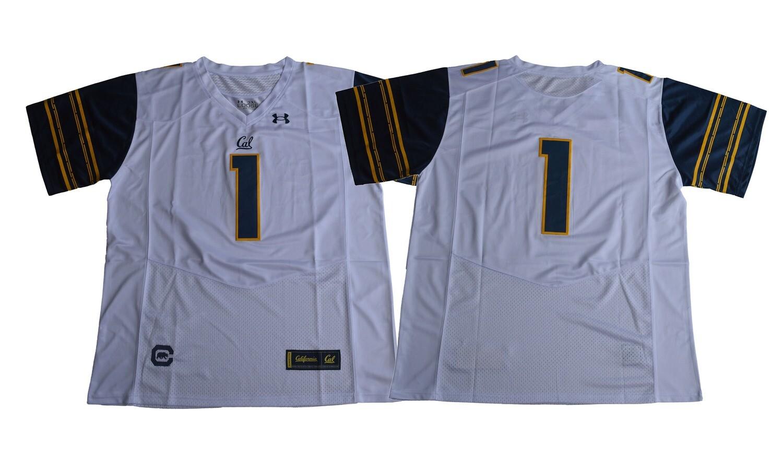 California Golden Bears #1 White Under Armour NCAA Football Jersey