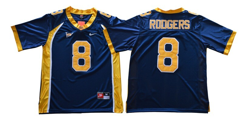 California Golden Bears #8 Rodgers NCAA Football Jersey Blue
