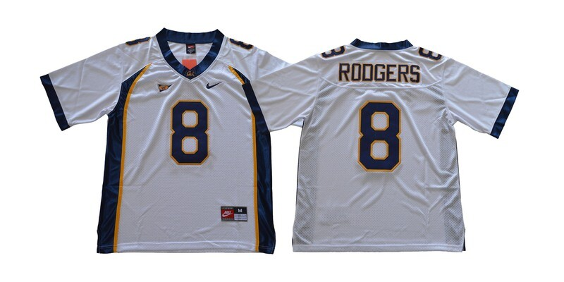 California Golden Bears #8 Rodgers NCAA Football Jersey White With Patch