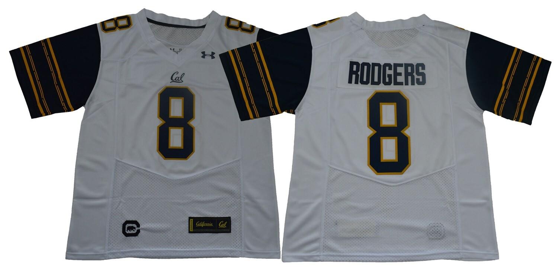 California Golden Bears #8 Rodgers NCAA Football Jersey White