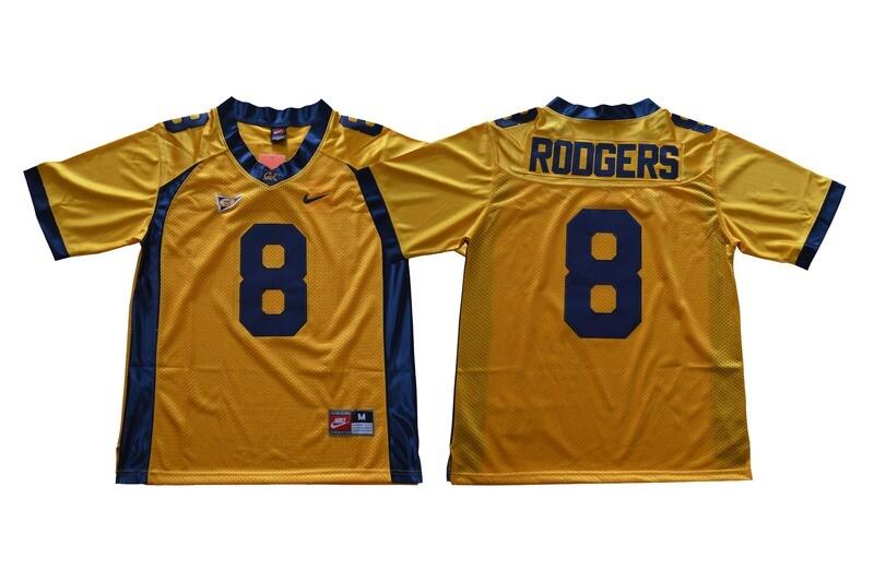 California Golden Bears #8 Rodgers NCAA Football Jersey Yellow