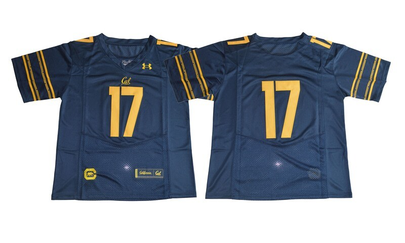 California Golden Bears #17 Deep Blue Under Armour Football Jersey