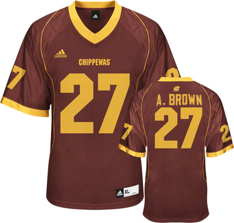 Central Michigan Chippewas #27 Antonio Brown Football Jersey