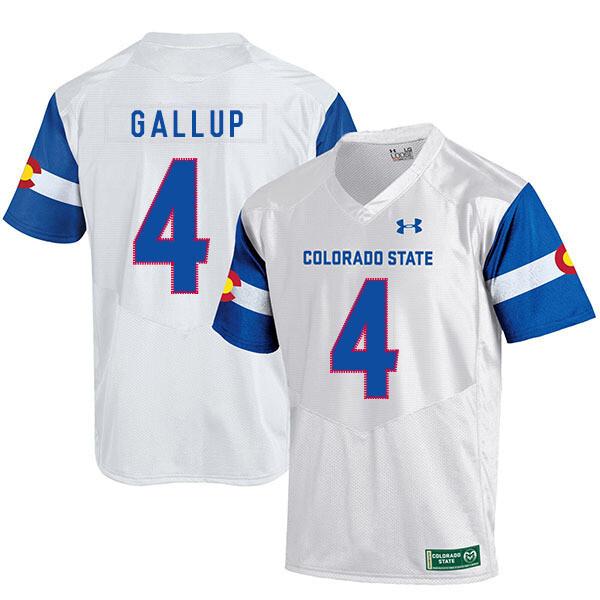 Colorado State Rams #4 Michael Gallup NCAA Football Jersey White