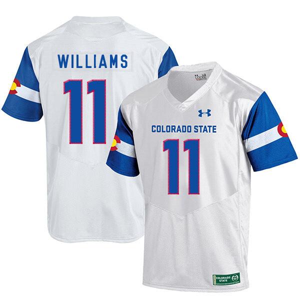 Colorado State Rams #11 Preston Williams NCAA Football Jersey White