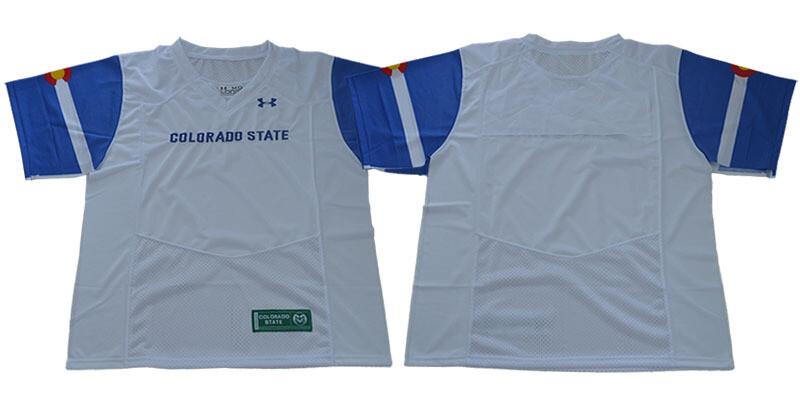 Colorado State Rams Black NCAA Football Jersey White