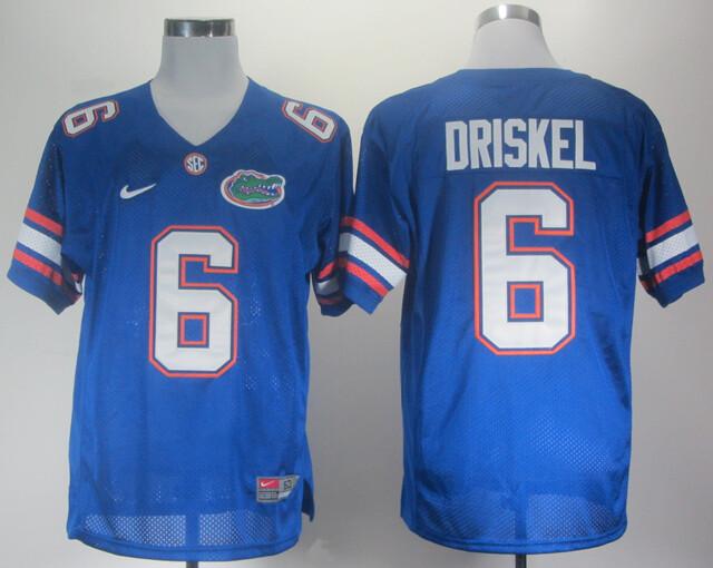 Florida Gators #6 Jeff Driskel NCAA College Football Jersey Blue