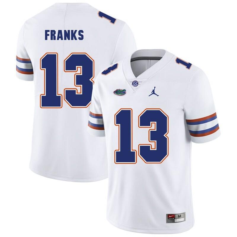 Florida Gators #13 Feleipe Franks College Football Jersey White Logo Patch