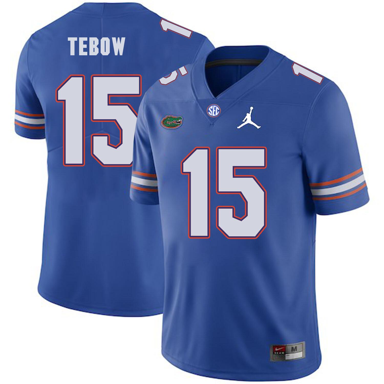 Florida Gators #15 Tim Tebow College Football Jersey Blue Logo Patch