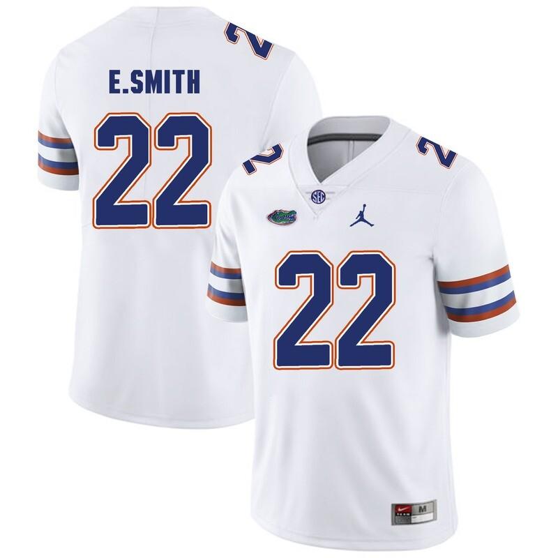 Florida Gators #22 Emmitt Smith College Football Jersey White Logo Patch