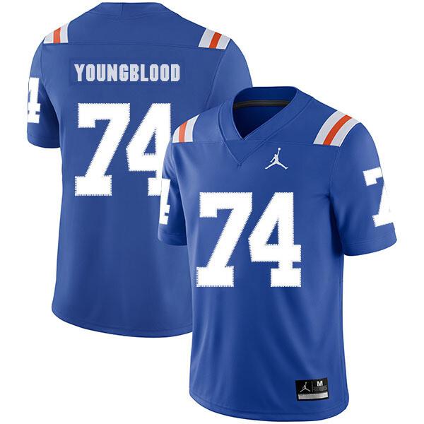 Florida Gators #74 Jack Youngblood NCAA Football Jersey Blue