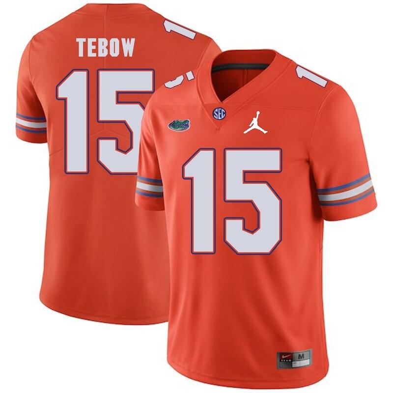 Florida Gators #15 Tim Tebow College Football Jersey Orange Logo Patch