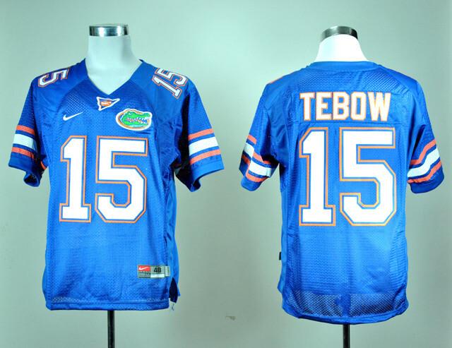 Florida Gators #15 Tim Tebow College Football Jersey Royal Blue