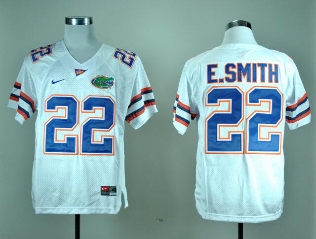 Florida Gators #22 Emmitt Smith College Football Jersey White