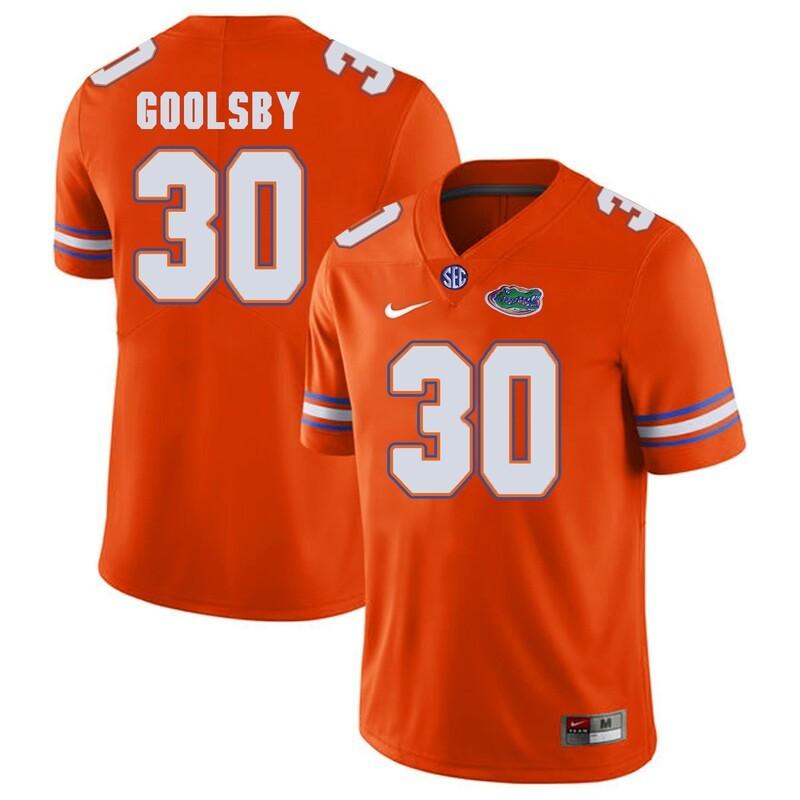Florida Gators #30 DeAndre Goolsby NCAA Football Jersey Orange Logo Patch