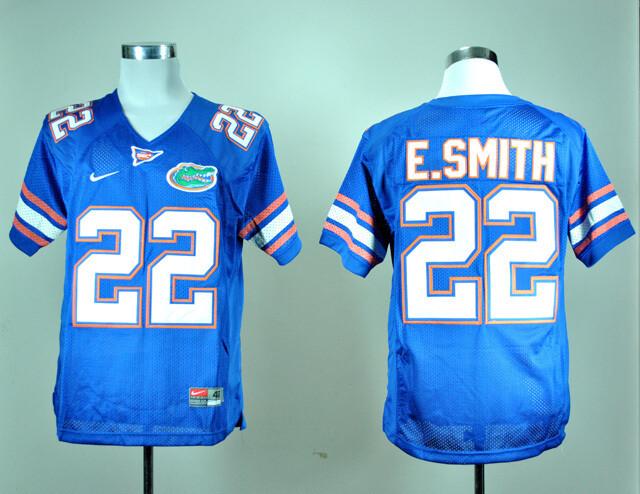 Florida Gators #22 Emmitt Smith College Football Jersey Blue