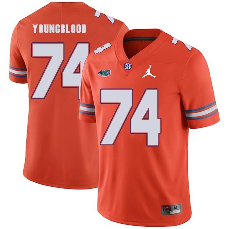 Florida Gators #74 Jack Youngblood NCAA Football Jersey Orange Logo Patch