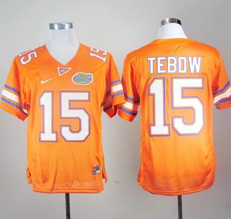 Florida Gators #15 Tim Tebow College Football Jersey Orange