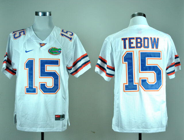 Florida Gators #15 Tim Tebow College Football Jersey White