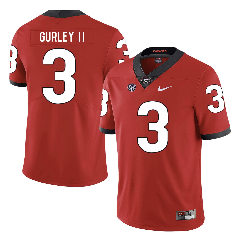 Georgia Bulldogs #3 Todd Gurley II College Football Jersey Red