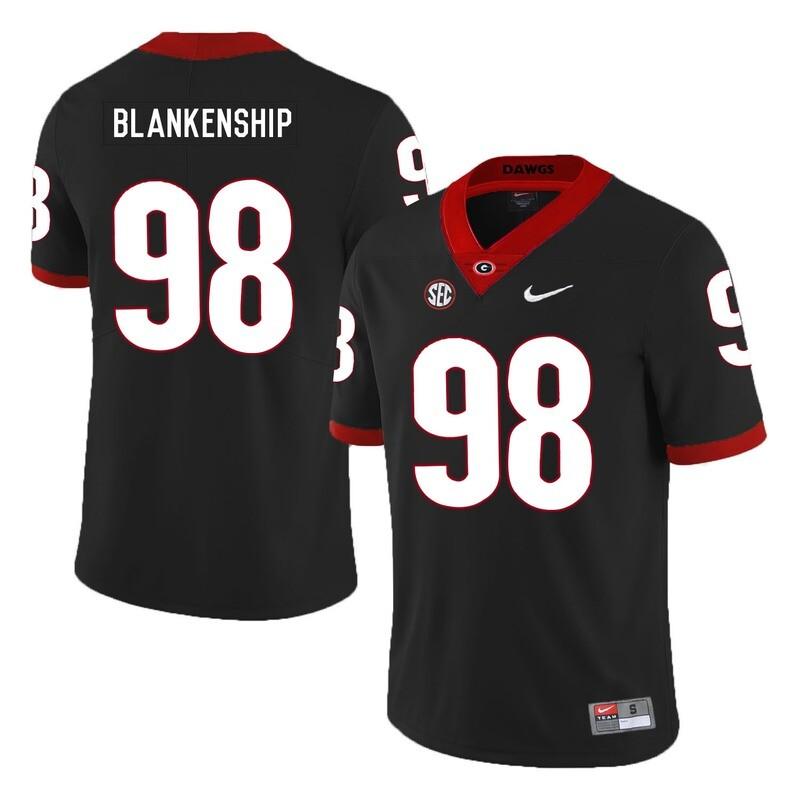 Georgia Bulldogs #98 Rodrigo Blankenship College Football Jersey Black
