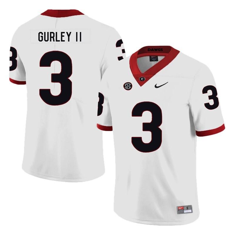Georgia Bulldogs #3 Todd Gurley II College Football Jersey White
