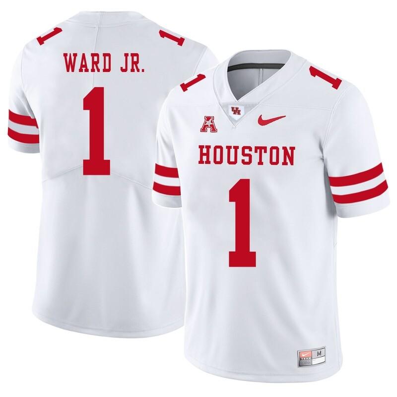 Houston Cougars #1 Greg Ward Jr College Football Jersey White