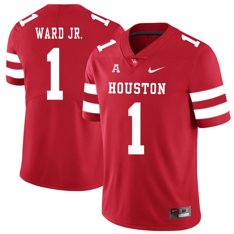 Houston Cougars #1 Greg Ward Jr College Football Jersey Red