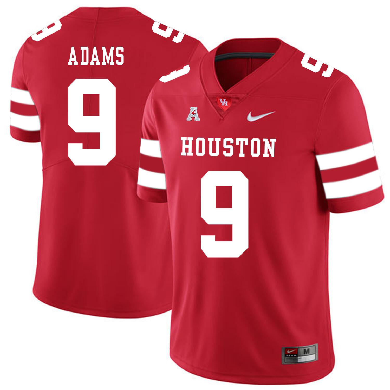 Houston Cougars #9 Matthew Adams College Football Jersey Red