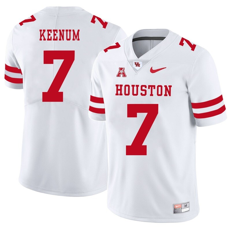 Houston Cougars #7 Case Keenum College Football Jersey White