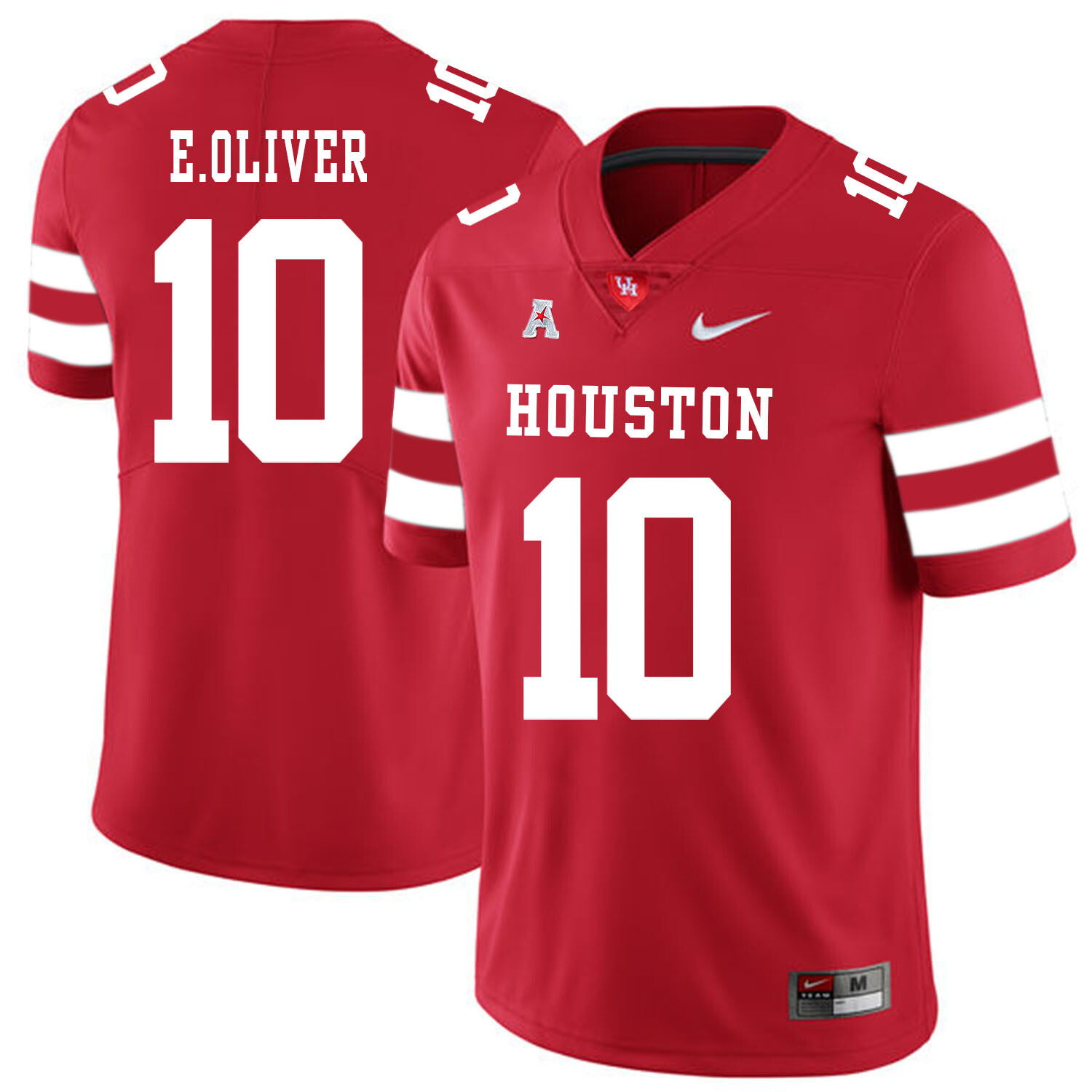 Houston Cougars #10 Ed Oliver College Football Jersey Red