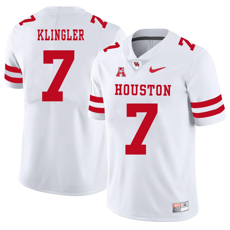 Houston Cougars #7 David Klingler College Football Jersey White