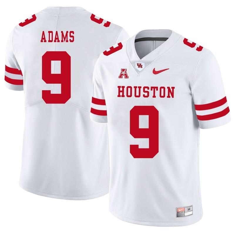 Houston Cougars #9 Matthew Adams College Football Jersey White