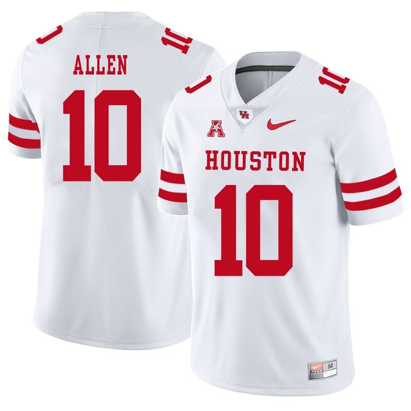 Houston Cougars #10 Kyle Allen College Football Jersey White