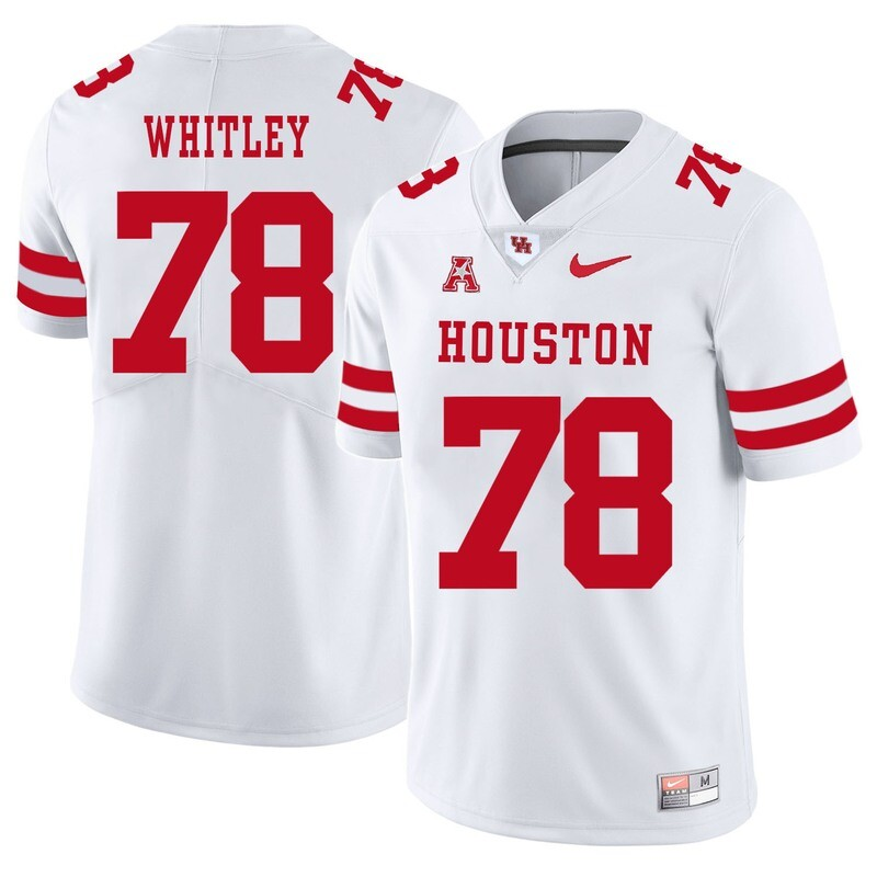 Houston Cougars #78 Wilson Whitley College Football Jersey White