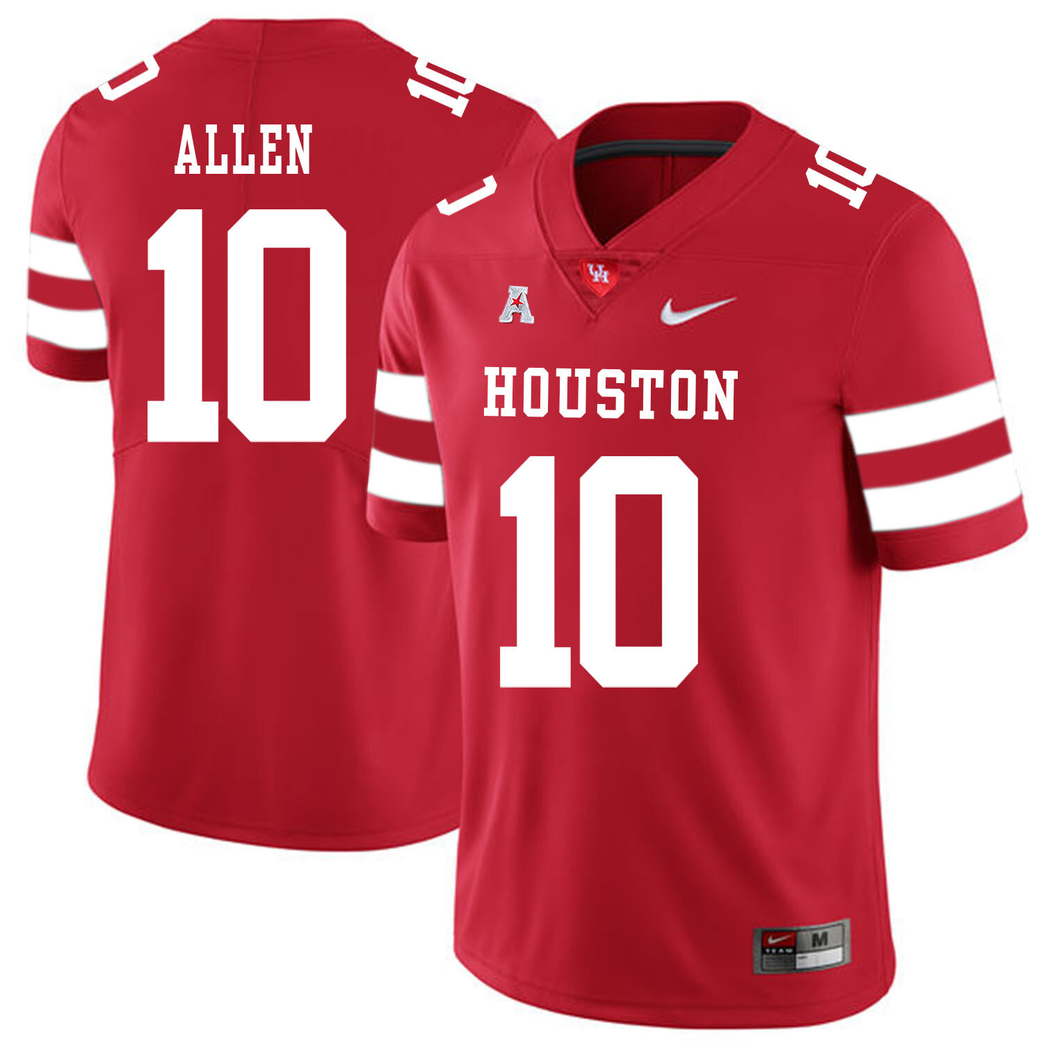 Houston Cougars #10 Kyle Allen College Football Jersey Red